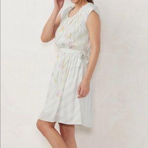 LC Lauren Conrad pleat neck dress